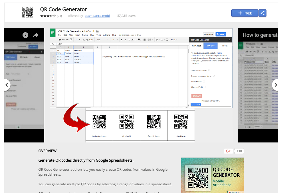 Easily create QR Codes in Google Sheets with the QR Code Generator add-on
